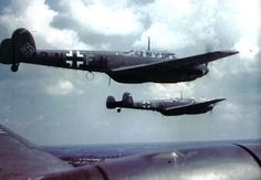 Centre For Aviation: German Bf 110 Messerschmitts in flight. Date and...