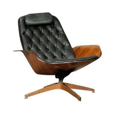 Plycraft Tufted Lounge Chair by George Mulhauser
