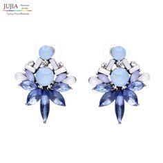 2016 Déclaration boucle d'oreille Bijoux À La Mode Élégant Brillant Boucles D'oreilles en cristal Pour Femmes En Gros D'usine