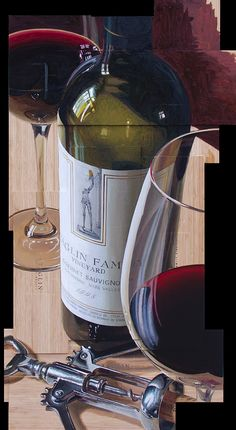 """""""Top It Off"""" by Thomas Arvid. Oil on Wine Crate. OIL ON WINE CRATE?!"""