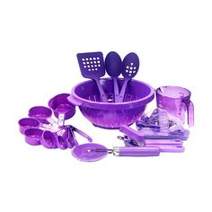 Dazzling Purple Kitchen Utensils - Home Decor and Interior Design... via Polyvore