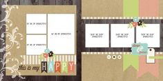 Lisa bearnson scrapbook layouts | THIS IS MY HAPPY Top Layouts Giveaway!! with Lisa Bearnson
