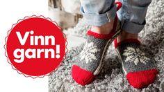 Familie Journal - strikkeopskrifter til hende Knitting Patterns Free, Free Knitting, Baby Knitting, Knitting Ideas, Knitted Slippers, Knitting Socks, Diy Clothes, Arm Warmers, Knit Crochet