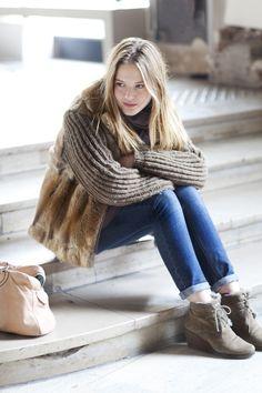 @emilyandmeritt's furry vest advice: 1. Go faux 2. neutral color 3. perfect length 4. Layer with essentials