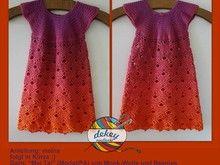 Kleid im Fächermuster Gr. 98/104 - leicht in andere Größen abwandelbar (mit Erklärung)