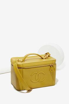 Vintage Chanel Caviar Leather Vanity Case