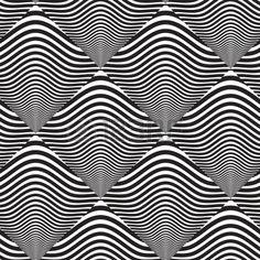 Preto e branco Op Art projeto, Vector, Padr photo
