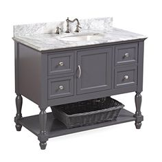 beverly 42inch bathroom vanity gray includes authentic italian