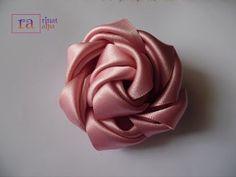 DIDIY satin ribbon rose flowers 11 تزتزيين العروسة: - Time to develop skills Satin Ribbon Flowers, Diy Ribbon, Ribbon Work, Fabric Ribbon, Ribbon Crafts, Lace Flowers, Ribbon Flower Tutorial, Ribbon Embroidery Tutorial, Silk Ribbon Embroidery