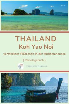 Das Glück der kleinen Dinge erwartet dich auf der #insel Koh Yao Noi - dem versteckten und kleinen Paradies 🏖️ in der Nähe von Phuket und Krabi: Radtour 🚲 über die Insel ・ Bootstour 🚤 in der Phang Nga Bucht ・ faulenzen in der Hängematte 🧘🏻♀️.  // #madoreisen #madounterwegs👣 #reisetagebuch #asien #thailand #reisetipp #travel #tourismthailand #kohyaonoi // Werbung, da Firmen-/Marken-/Ort-/Personen-Nennung oder -Verlinkung ohne Auftrag, aber als persönliche Empfehlung // Thailand, Krabi, Phuket, Island, Travel Scrapbook, Paradise, Travel Advice