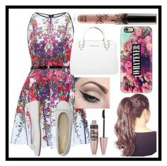 """""""Untitled #476"""" by malrocks2003 on Polyvore featuring Ted Baker, DIENNEG, Michael Kors, Mehron, Maybelline and Casetify"""