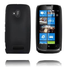 Hard Shell (Sort) Nokia Lumia 610 Deksel