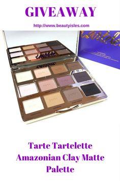 Tartelette Amazonian Clay Matte Eyeshadow Palette Giveaway - Beauty Isles