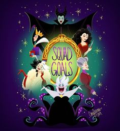 the squad is a bunch of bad witches. 😈🔥👑🍎🔮When the squad is a bunch of bad witches. 😈🔥👑🍎🔮 Disney Villains – LINE theme Walt Disney, Evil Disney, Cute Disney, Disney Magic, Disney Art, Disney Pixar, Ursula Disney, Deviantart Disney, Disney Halloween