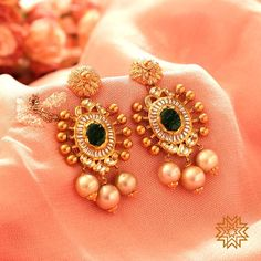 fcc402f3bc548d Traditional Gold Colour Pearl studded Earring Jewellery Set Indian Jhumka  Wedding Bridal function wear. | Wedding | Jewelry, Earrings, Gold earrings