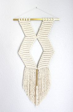 Macrame Wall Hanging XO no.3 by HIMO ART One of a kind by HIMOART