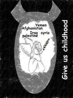 !Que nos devuelvan la #Infancia! es un llamado de los niños de las guerras que las grandes potencias junto al Imperialismo y al Sionismo icluida Arabia Saudita propiciaron  #IslamOriente