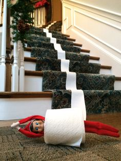elf on the shelf riding a train Family Christmas, All Things Christmas, Winter Christmas, Christmas Holidays, Christmas Ideas, Christmas Decorations, Awesome Elf On The Shelf Ideas, Elf Magic, Elf On The Self
