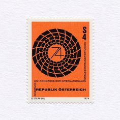14th International Road Transport Union Congress (4S). Austria, 1974. Design: Otto Stefferl. #mnh #graphilately
