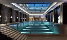 Indoor Swimming Pool Ideas - You want to build a Indoor swimming pool? Here are some Indoor Swimming Pool designs and ideas for you. Garden Swimming Pool, Luxury Swimming Pools, Luxury Pools, Indoor Swimming Pools, Dream Pools, Swimming Pool Designs, Lap Swimming, Pool Backyard, Hotel Swimming Pool