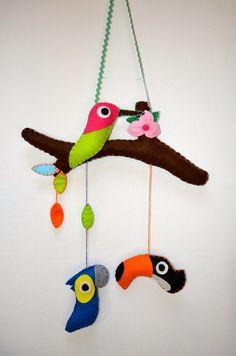 Fiocco nascita a forma di ramo con uccellini, by Mywonderland, 15,00 € su misshobby.com