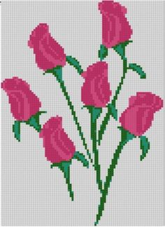 Six Roses Cross Stitch Pattern | Craftsy