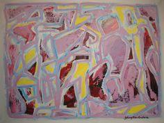 Maleri 60x80 cm Yellow Pink