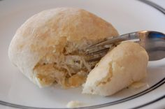 Savory Crescent Chicken Pockets (can use store bought crescent dough or homemade biscuit dough)