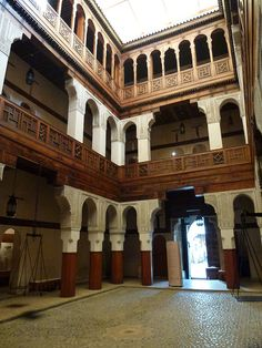 Fondouk el-Nejjarine, The Wooden Crafts Museum, Fez, Morocco Fez Morocco, Craft Museum, African Countries, Wooden Crafts, North Africa, Moroccan, Places Ive Been, Explore, Mansions