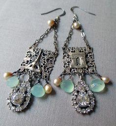 paris rain earrings