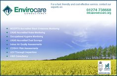 Envirocare offer a wide range of services as an Environmental Consultancy and Occupational Hygiene & Safety Consultancy