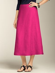 Talbots - Linen Bias-Cut Full Skirt   Skirts   Petites Discover your new look at Talbots. Shop our Linen Bias-Cut Full Skirt for stylish clothing and accessories with a modern twist at Talbots