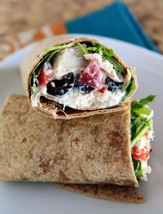 Quick, healthy and tasty, these Mediterranean Chicken Wraps are the perfect weeknight dinner when the name of the game is fast and delicious! Mediterranean Diet Meal Plan, Mediterranean Chicken, Mediterranean Recipes, Chicken Wraps, Sandwiches, Healthy Foods To Eat, Healthy Recipes, Healthy Eating, Med Diet