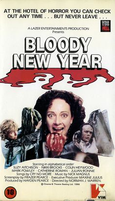 'The last day of the year… or the last day of your life!' Bloody New Year – aka Time Warp Terror – is a 1986 (released British horror feature film directed by Norman … 1980s Horror Movies, Classic Horror Movies, Horror Films, It Movie Cast, Film Movie, Song Cry, Scary Snakes, Horror Posters, Movie List