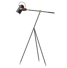A personality filled floor lamp from the Carronade Lighting Collection