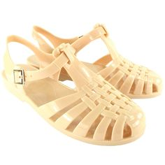 43c47bc21be800 Womens Flat Jelly Woven Strap Summer Buckle Holiday Festival Sandals Beige  10   Special product just for you.