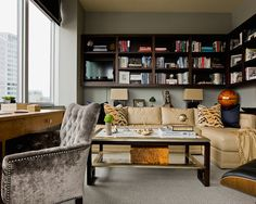 home-office by Lovejoy Designs http://www.houzz.com/photos/2562300/Penthouse-Downtown-Boston-traditional-home-office-boston