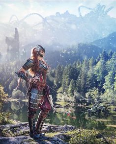 Aloy from Horizon Zero Dawn cosplay by Kamui cosplay photo by Benjamin Video Game Art, Video Games, Horizon Zero Dawn Cosplay, Horizon Zero Dawn Wallpaper, Heiliges Land, Apocalypse, Horizon Zero Dawn Aloy, Geek Girls, Fantasy