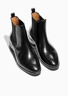 5366c6cd225e Other Stories image 2 of Leather Chelsea Boots in Black Leather Chelsea  Boots