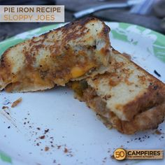 Pie Iron Sloppy Joes - SO GOOD! #camping #recipes