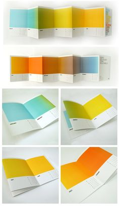 brochure design - accordion fold. great use of color and simple design.