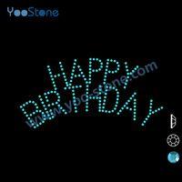 Cute Very Hot Happy Birthday Rhinestone Motif Wholesale 6bfbf93c114a