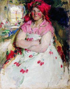 РУССКИЙ ХУДОЖНИК АРХИПОВ АБРАМ ЕФИМОВИЧ (1862 - 1930). Рязанская пригородная девица