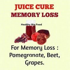 juice cure for memory loss  Visit us on goimprovememory.com  Via  google images  #memory #memorys #memorylane #memorybox #memoryfoam #memories #memoryloss #improvememory #memoryday #memoryhelp #memorybook