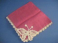 Butterfly Crochet Handkerchief