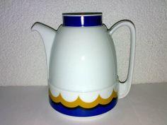 Vintage 70s 80s Schirnding Bavaria Kaffeekanne Teekanne Kanne Porzellan Design *