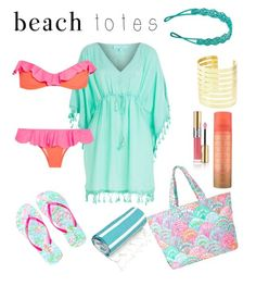 """Let's Have Some Fun In the Sun"" by kiwipenguin on Polyvore featuring Linum Home Textiles, Lilly Pulitzer, Monsoon, Melissa Odabash, Je m'en fous, Yves Saint Laurent and beachtotes"