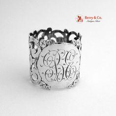 Napkin Ring Floral Openwork Sterling Silver, 1900