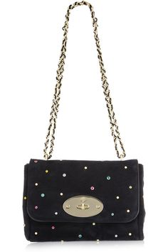 0d06552ef664 Mulberry - Lily With Gems embellished suede shoulder bag