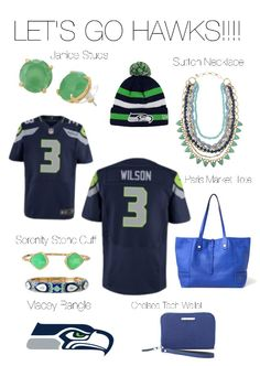 Stella and Dot style mixed with our favorite football team!  Go Seahawks!  www.stelladot.com/sites/velaluka